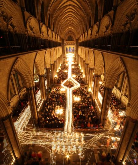 ***BESTPIX*** Darkness To Light Advent Procession Starts Salisbury Cathedral's Christmas Season